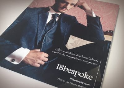Creazione pagina pubblicitaria 18BESPOKE per rivista di settore
