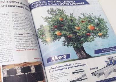 Creazione pagina pubblicitaria ALBERTI ENGINEERING per rivista di settore