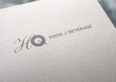 Progettazione logo HQ FOOD & BEVERAGE