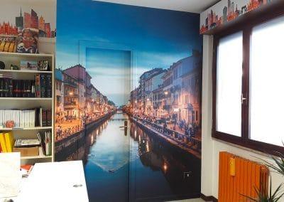 Progettazione, realizzazione e allestimento per copertura pareti e arredi ufficio TEAMGRAPHIC