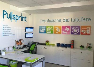 Progettazione, realizzazione e allestimento uffici PULISPRINT