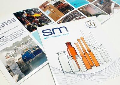 Creazione depliant di presentazione aziendale SM PACK