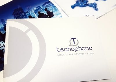 Creazione brochure di presentazione aziendale TECNOPHONE