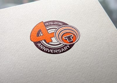 Progettazione logo quarantesimo anniversario TENUTE